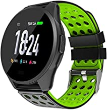 Hoteon 1.3 inch Color Screen Fitness Watch, IP67 Waterproof Smart Activity Tracker with Heart Rate Monitor,BP,Pedometer,Calorie Counter,Sleep Monitor, SMS/SNS Alert (Green)