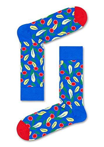 Happy Socks, calzini colorati in cotone, confezione regalo, 3 paia di calzini per uomini e donne Scatola regalo a forma di fiore. Large