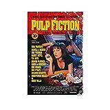 tongton Póster artístico de Pulp Fiction Movie Classics en lienzo y arte de pared impreso moderno para decoración de dormitorio familiar de 40 x 60 cm
