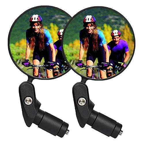 CLOUDH Espejo Retrovisor de Bicicleta, Espejo Retrovisor Ajustable para Bicicleta, Accesorios para Bicicleta De MontañA para Ciclismo, Espejo Retrovisor Seguro, 2 Piezas