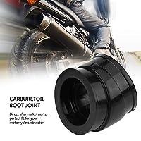 キャブレターブーツジョイント、耐油性の耐久性のある黒4個キャブレターブーツ、CB750Cオートバイパーツキャブレターパーツオートバイ用