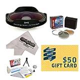 Opteka Platinum Series 0.3X HD Ultra Fisheye Lens for Canon VIXIA HF21, HF R20,...
