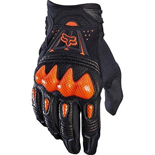 Fox Racing Bomber Gloves, Adultos Unisex, Black/Orange, M
