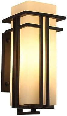 Rétro Japonais Mur Lampe extérieure, étanche IP3 Cour Verrerie, Verre 5w Wall Light Grange américain, Couloir Applique Murale