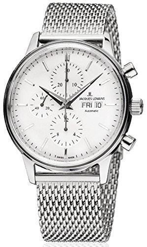 Jacques Lemans - Orologio da uomo con cronografo automatico, ETA Valjoux...