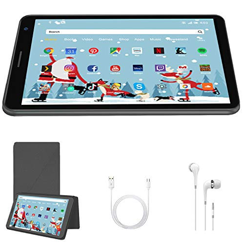 8 Inch Tablet Android 10.0, Quad Cord, 32GB ROM 3GB RAM 128GB Scalable, WIFI, Cameras, 1280*800 HD IPS Screen - DUODUOGO E8 Inch Tablet Pad GMS Google Certification (Black)