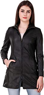 Leather Retail® Faux Leather Long Jacket for Woman's