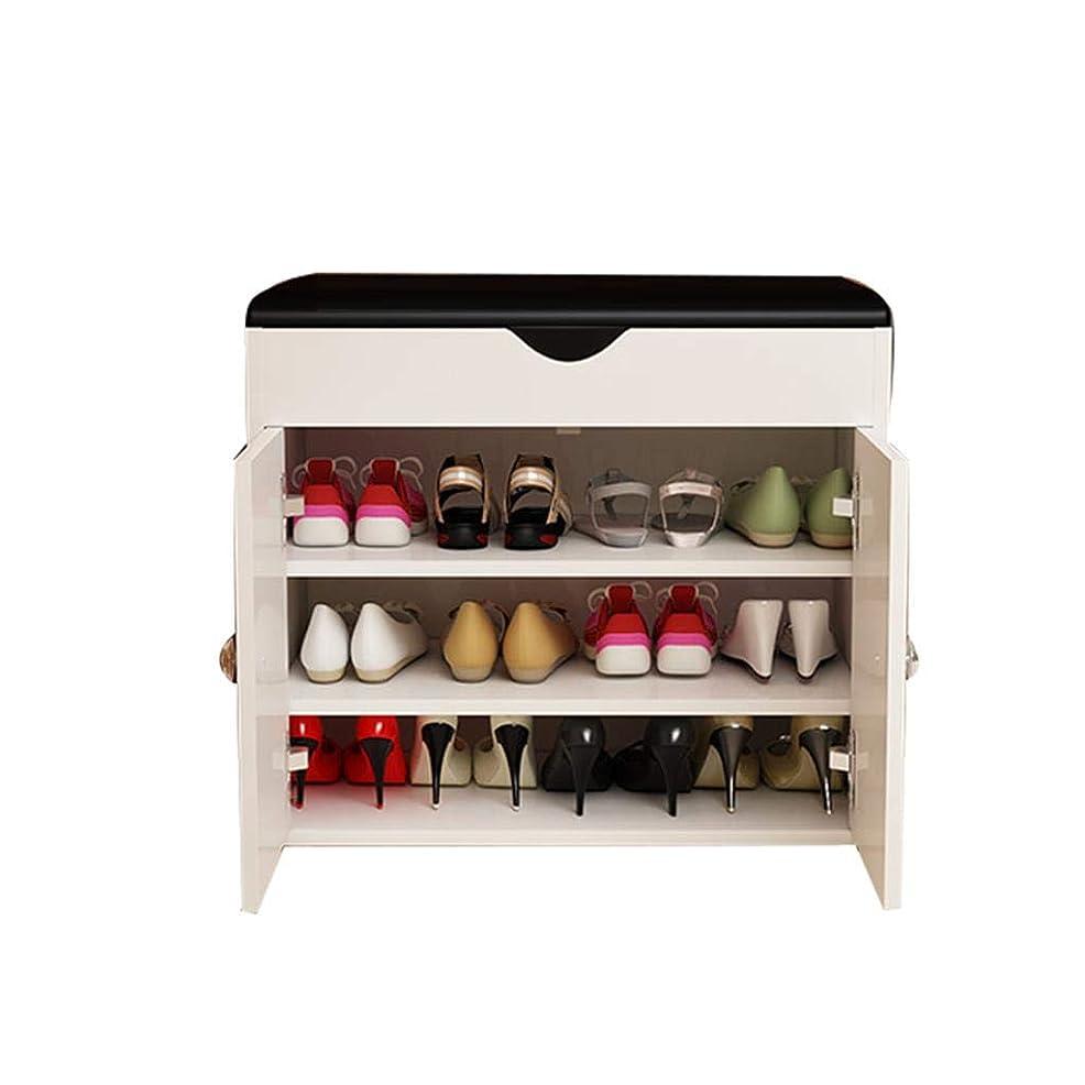 通路エレベーター不快Jia Jia Shoe rack 実用的な靴のラック靴のキャビネットのストレージキャビネットのキャビネットの塔のスペースの省スペースのストレージデザインの厚いボードの負荷 !! (Color : White, Size : Length 80cm)