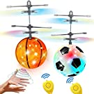 2 Pack Flying Ball Toys, RC Flying Toy Drones for 6, 7, 8, 9, 10, 11, 12,13,14 Year Old Boys Girls Kids Christmas Stocking Stuffer Gifts LED Light Indoor Outdoor Kids Games with Remote Control