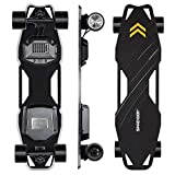 Spadger Electric Skateboard, D5X Plus 35'' Portable Longboard Skateboard, 23Mph 900W Dual Motor, 12 Miles Range, Load up to 264Lbs, with Wireless Remote Control & APP Control Bulit-in LED Lights