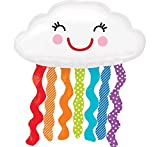 Anagram International Rainbow Cloud Shop Pack Balloon, 30', Multicolor