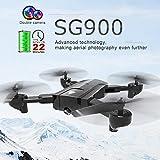 WOQOOK Drone pliable SG900 Optique à flux Pliable FPV Drone RC Quadcopter Intelligent Suivant Télécommande Drone Comme indiqué.