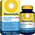 Renew Life Adult Digestmore Ultra Enzyme Supplement Vegetarian Capsules, 90 Count