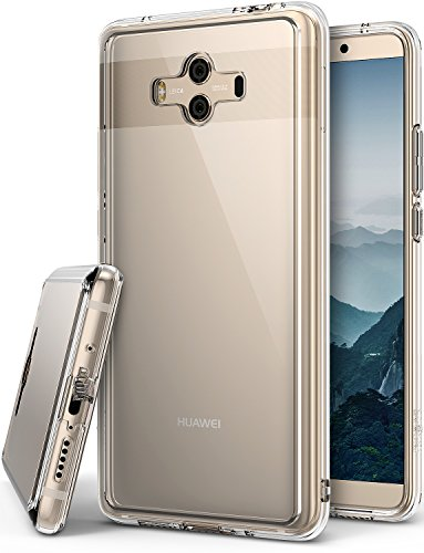 Ringke Funda Huawei Mate 10, [Fusion] PC Transparente Crystal Clear Minimalist Back TPU Bumper Funda Protectora Resistente a los Arañazos para Mate10 - Transparente Clear