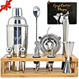 24oz Stainless Steel Cocktail Shaker Set Bartender Kit With Stand Cocktail Shaker Kit - Cocktail Set...