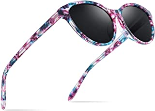 Acetate Polarized Sunglasses Mirror Cat Eye Sun Glasses for Women 9111