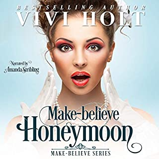 Make-Believe Honeymoon audiobook cover art