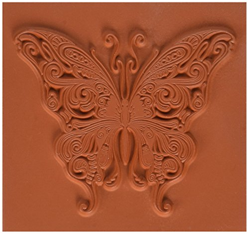 Rouge profond s'accrochent Stamp-Butterfly Swirl