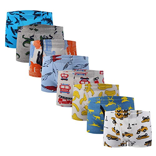 Taxzode Kids Series Baby Underwear Multi Pack Little Boys  Cotton Boxer Briefs  8 Pcs-assorted a  2-3 Years
