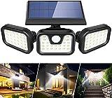 AVEDISTANT Luz solar exterior 108 LED de tres cabezales con mando a...