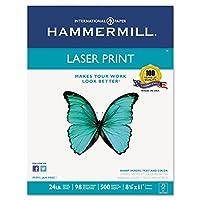 Hammermill 104604レーザー印刷オフィス用紙、98明るさ、24lb、8–1/ 2x 11、ホワイト、500シート/ RM