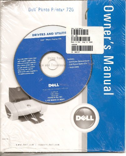 DELL Photo Printer 720 Owner's Manual w/Drivers and Utilities CD-ROM