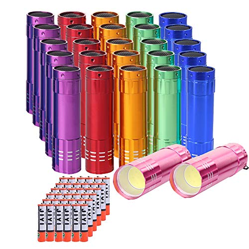 Whaply Mini Small LED Flashlights Pack of 30, New Type Cob Light Flashlight ,Bulk Flashlights for Kids