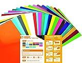 T-VINYL PU Heat Transfer Vinyl Sheets Bundle for DIY T- Shirts : 10