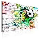 decomonkey Bilder Fußball 90x60 cm 1 Teilig Leinwandbilder
