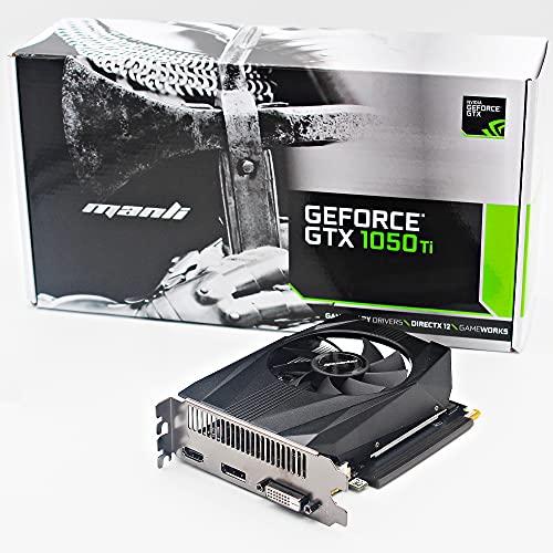 nVidia GeForce GTX 1050Ti 1050 Ti Scheda Video 4GB GDDR5 128bit 768 Cuda Cores Dual link DVI-D HDMI DisplyPort Ventola Singola 2 Slot per Gaming GPU Game Assemblato Grafica editing video stream
