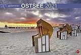 Ostsee Globetrotter - Von behaglichen Strandkörben und rauen Küsten - Reisekalender 2021 - Foto-Wandkalender mit Monatskalendarium - Format 58 x 39 cm