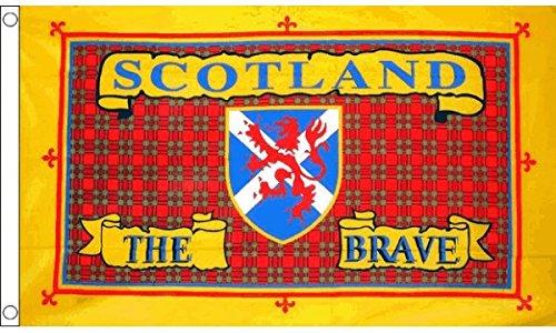 AZ FLAG Flagge SCHOTTLAND The Brave 150x90cm - Schottische - Scotland The Brave Fahne 90 x 150 cm - flaggen Top Qualität