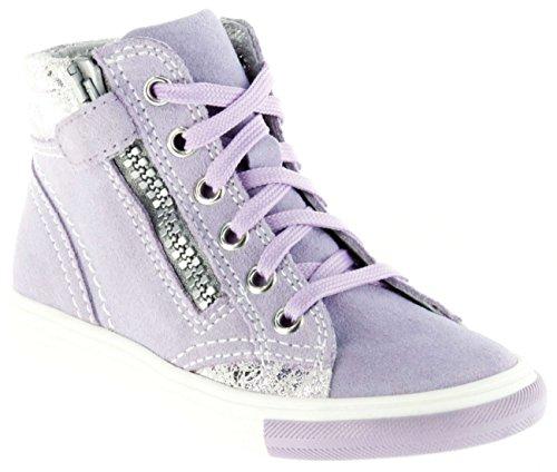 Richter Kinder Halbschuhe Sneaker lila Velour Mädchen Schuhe 3145-142-1420 Thistle WMS Fedora, Farbe:violett, Größe:31 EU