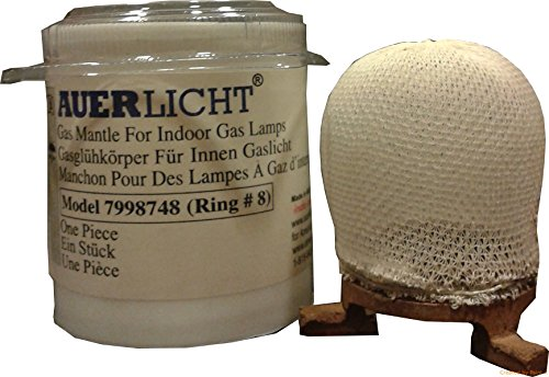 AUERLICHT 7998748 Indoor Gas Lamp Mantle Ring 8 - for Humphrey/Paulin/Mr. Heater/Falks Indoor Gaslights