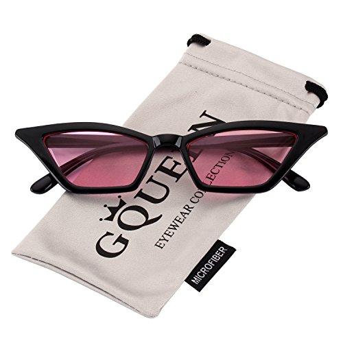 GQUEEN Clout Brille Vintage Cat Eye Sonnenbrille Mod Style UV-Schutz Kurt Cobain Gläser,GQS8