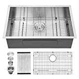 Undermount Kitchen Sink - Kichae 30 Inch Kitchen Sink Undermount Stainless Steel 18 Gauge Single Bowl Undermount Sink with Basket Strainer