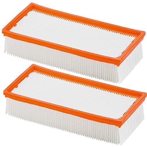 Filtros planos para aspiradoras originales como aspiradoras en seco y húmedo Kärcher/NT 65/2 NT 72/2 y aspiradoras industriales IVC como 6.904-283.0 NT 72/2 Eco Tc, NT 75/2 Ap Me Tc (2 unidades)