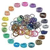 200 unidades de 20 colores,Bandas de Pelo Multicolores,Lazos elásticos para el pelo, banda de goma para coleta,Accesorios para el Cabello para Niños Bebés