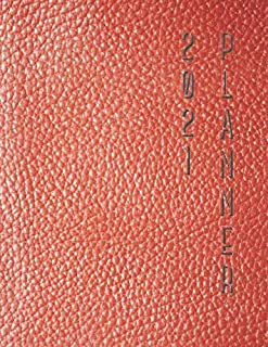 2021 Planner: Calendar With Week Numbers 2021. Weekly & Daily. Red Leather Imitation. Quick Meeting Notes, Plans and Ideas...