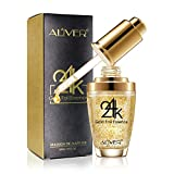 Topical Facial Serum with Hyaluronic Acid,24K Gold Collagen & Vitmins C for Face,100% Pure,Anti-Aging Skin Repair,Moisture,Firmm & Whitening Skin for All Skin Types,1 Fl Oz