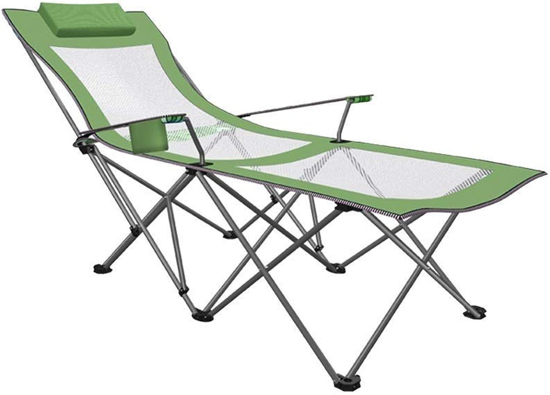 Campingstuhl, Klappbarer Campingstuhl Mit Fustütze - Liegestuhl Aus Netzgewebe Mit Getrnkehalter Und Aufbewahrungstasche - Unterstützt 120 Kg