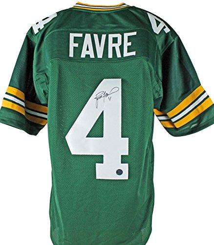 Brett Favre Authentic Signed Green Pro Style Jersey w/Favre Hologram & COA