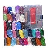 lailongp Needle Felting Kit, 36 Colores Lana Roving Filzen Lana DIY Agujas