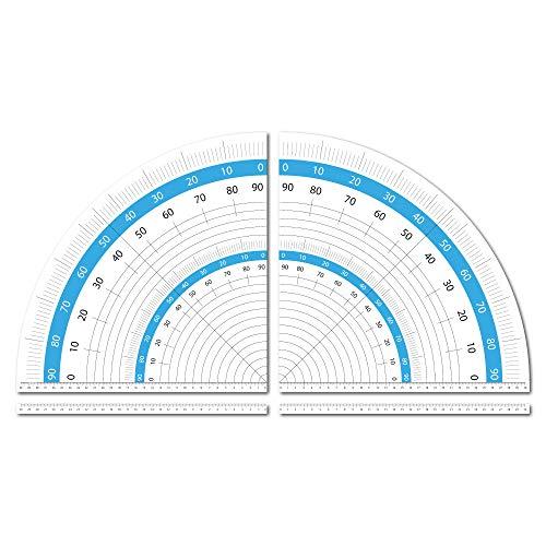 Geodreieck Aufkleber Set speziell für Kreissägen 30 cm selbstklebend als Zeichendreieck ideal für Handwerker-Werkbänke oder Patchworker und Schneider zum Winkel-Messen
