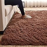 REDREDRED Area Rugs - Alfombra esponjosa para decoración del hogar, tamaño grande, súper suave, peluda, para dormitorio, sala de estar, alfombra moderna de pelusa para niñas y niños