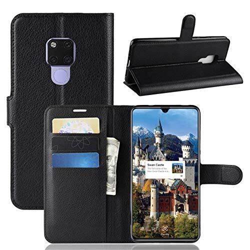 betterfon | Buch Tasche Hülle Etui Book Hülle Cover Schutz Hülle Handy Tasche für Huawei Mate 20 X Schwarz