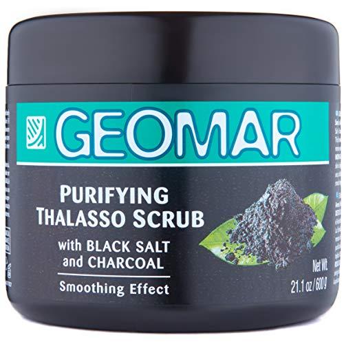 Geomar Thalasso Scrub Purificante Detox 600g mit schwarzem Salz & Vulkansand - enthält nur natürliche Inhaltsstoffe - Peeling Körperpeeling - reinigt, peelt, entgiftet und pflegt