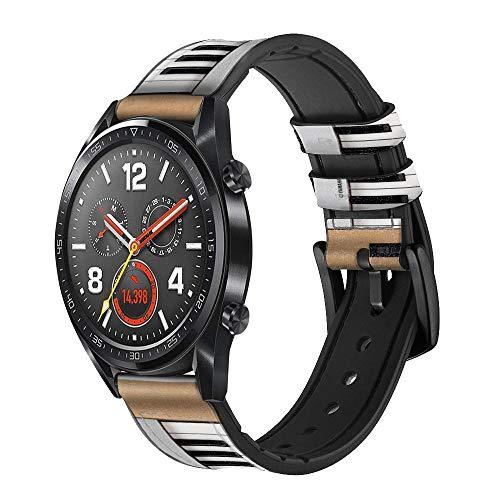 Innovedesire Keyboard Digital Piano Smart Watch Armband aus Leder für Wristwatch Smartwatch Smart Watch Größe (24mm)