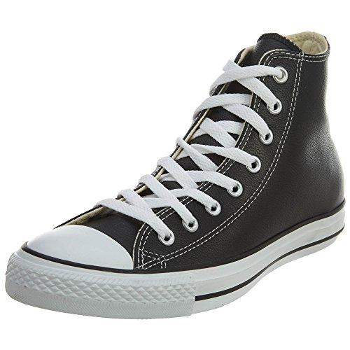 Converse Chuck Taylor All Star Core Lea Hi, Baskets mode mixte adulte, Noir - Noir/blanc, 41.5 EU