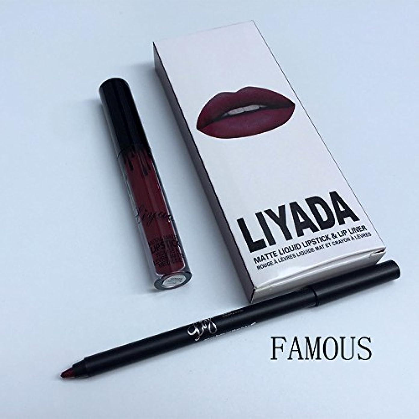 翻訳者ぜいたく然としたLIYADA Brand liquid matte lipstick kit lips pencil lips makeup lasting waterproof Mate pen lip gloss red has lip cosmetics